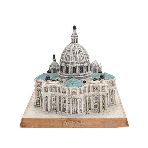RUIR BasíLica De San Pedro, Ornamentos Creativos, Modelos ArquitectóNicos Antiguos, PequeñOs Ornamentos, ArtesaníAs En Resina (13 * 9.7 * 8.8Cm)