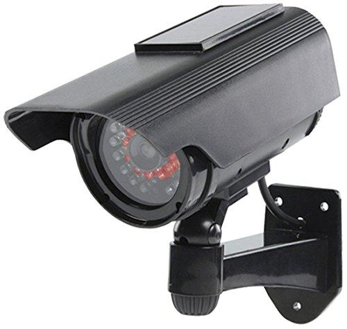 König SAS-DUMMYCAM90 Negro Bala cámara de Seguridad ficticia - Cámaras de Seguridad ficticias (Bala, Exterior, Negro, De plástico, IP44, Pared)