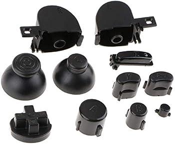 1 Set Analog Joystick Thumbstick Stick Cap Buttons Keypads Y X A B Z Buttons for Gamecube NGC Controller Black