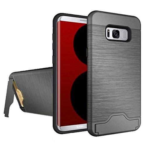 Schutzhülle für Samsung Galaxy S8 / S8 Plus Kartenfach, Samsung S8, grau