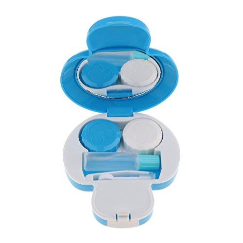 Kontaktlinsenbehälter, Cartoon Pilz Kontaktlinsen Aufbewahrung, Reise Kontaktlinse- Kasten Set - Blau
