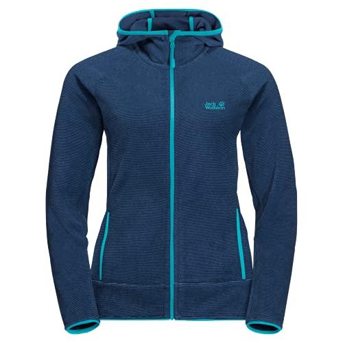 Jack Wolfskin Damen Arco Jacket Women Fleece-Jacke, dark indigo stripes, XL
