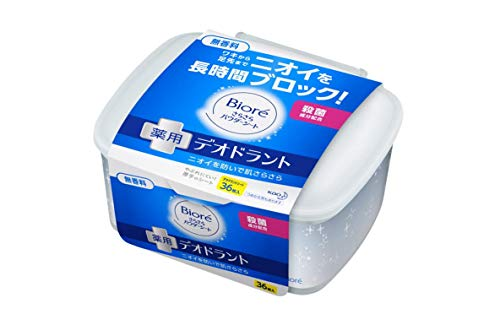Biore Japan - Biore poeder sheet deodorant parfum body 36 vellen ruisende