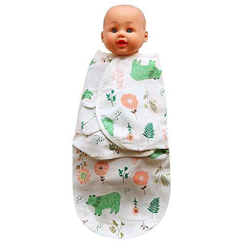 Gigoteuse d'emmaillotage,Serviette enveloppante en Gaze Anti-Choc pour bébé,Sac de Couchage pour bébé Nouveau-né câlin-Forest_L,Coton 100% Bio Unisexe