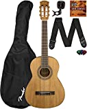 Fender FA-15N 3/4-Size Kids Acoustic Guitar - Natural Learn-to-Play Bundle with Gig Bag, Tuner, Strap, Picks, Fender Play Online Lessons, and Austin Bazaar Instructional DVD