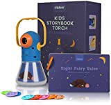 FancyWhoop Multifunctional Story Projection Flashlight Torch, Kids Sleep Bedtime Story Projector, 8 Fairy Tales Movies 64 Slides, Time Switch Night Light, Great Educational Toy Gift for Toddlers