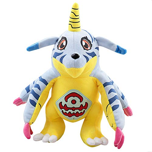 XIAOMOLAO Digimon Gabumon Plüschpuppe Einhorn Cartoon Figur Kuscheltiere Kinderspielzeug 33Cm