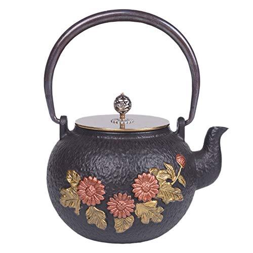 WTDlove Eisen Sie Topf Gusseisen Teekanne antike japanische Gusseisen Topf Xiangyang Erdnuss Eisentopf Wasserkocher Kochen Tee Tee Wasserkocher Geschenk 1,2 L