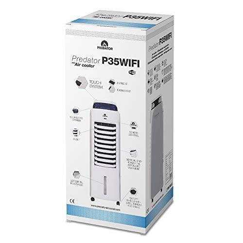 Predator P35WIFI – Rafraîchisseur d'Air Mobile - Contrôle par APP connecté WIFI - Faible Consommation - Silencieux - Oscillation Verticale et Horizontale - Mode Bébé et ECO - Anti-moustique