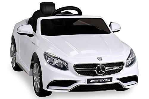 S 63 weiss normal Kinderauto Kinderelektroauto Kinderelektrofahrzeug Kinder elektroauto 12V Orginal RC Mercedes s 63 AMG