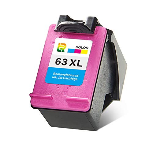 Cartuchos de tinta 63xl, reemplazo de cartucho de impresora de inyección de tinta para HP DeskJet 1112 1111 2131 2623 2628 Capatible de alto rendimiento con negro y Color
