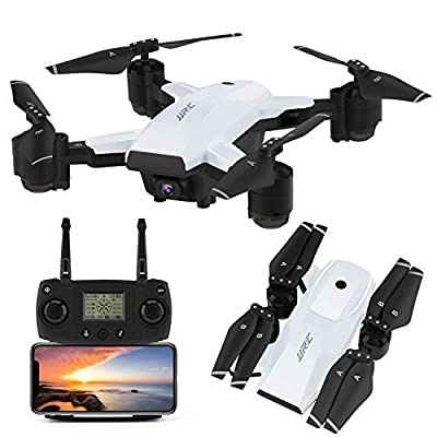 INKPOT GPS Drone JJRC H78G 5G WIFI FPV Rc Foldable Drone with 1080P HD Camera Live Video RC Quadcopter with Follow me ,Smart Return Home,Dual Control Mode Folding Drone for Adults(White)