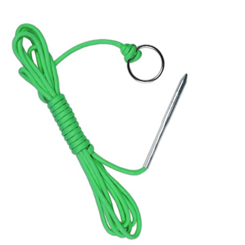 PARACORD PLANET 550 lb Fish Holder with Metal Threading Needle and 1 Split Ring, 10, Fish Stringer
