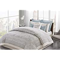 Echo Design Larissa Comforter Set(Blue,Queen)