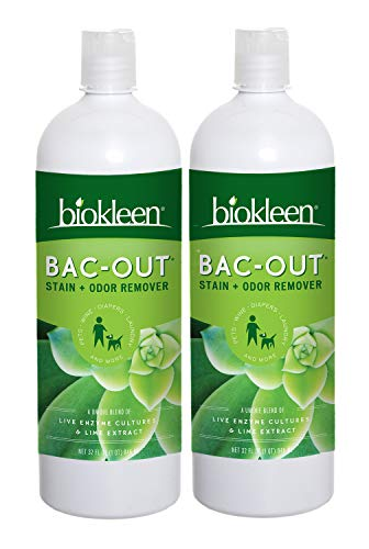 Biokleen Bac-Out Stain and Odor Remover - 2 Pack - for Pet Urine, Laundry, Diapers, Wine, Carpets,...