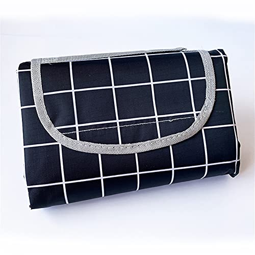 FDDFG Manta de Picnic Impermeable, Estera de Camping, cojín de colchón de Tienda al Aire Libre, Manta de Playa 2m * 1.5 (Color : Black, Size : 200X150cm)