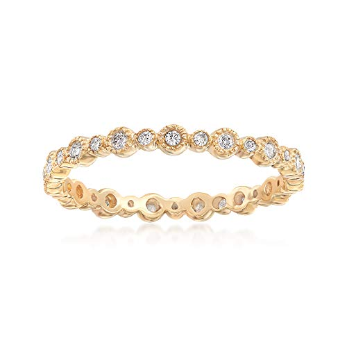 Ross-Simons 0.25 ct. t.w. Diamond Eternity Band in 14kt Yellow Gold. Size 7