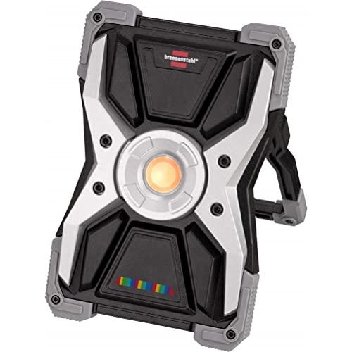 Brennenstuhl Akku LED Arbeitsstrahler RUFUS 15CRI 96 (2700lm, IP65, wählbare Lichtfarbe, Baustrahler mit Powerbank-Funktion, inkl. Ladekabel)