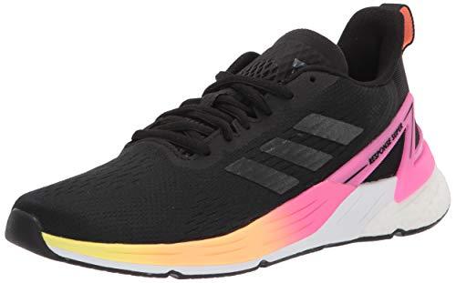 adidas Women's Response Super Shoes Running, Black/Black/Hi-Res Yellow, 5