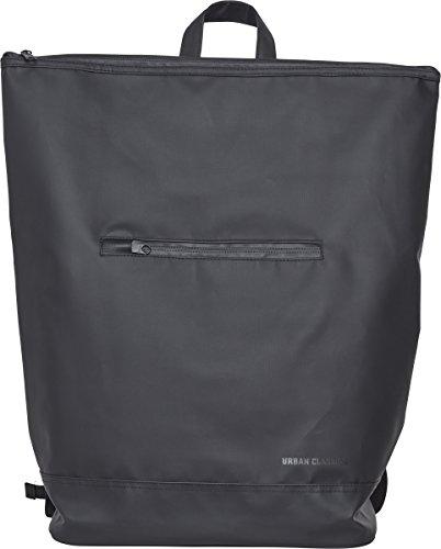 Urban Classics Unisex-Erwachsene Messenger Backpack Coated Rucksack, Black, 47 cm
