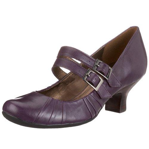 Clarks Black Ash 203334024065, Damen Pumps, violett, (Purple Leather), EU 40, (UK 6 1/2)