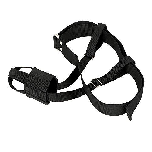 CuiGuoPing Dildofixiergürtel, verstellbar, Erotic Bondage Gear, schwarz