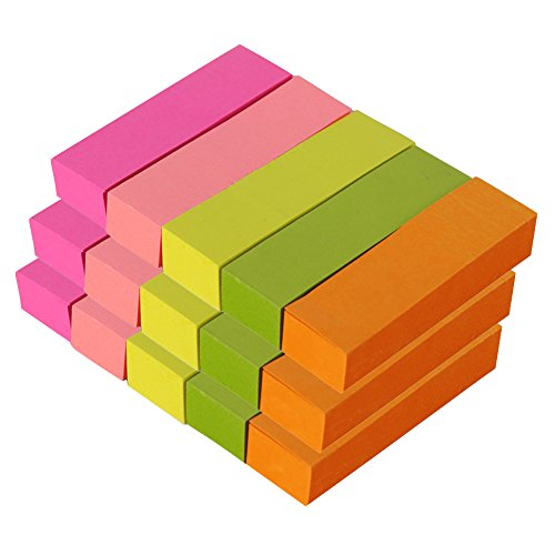 MyLifeUNIT Small Sticky Notes, Self-Stick Notes 0.6 x 2 Inch, Variety of Colors (100 Pcs x 15 Pack)
