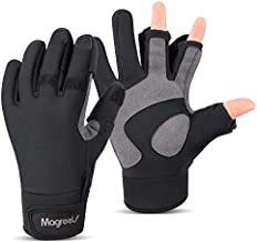Magreel Ice Fishing Gloves for Men and Women Water Repellent Windproof Gloves 3 Cut Fingers Cold Winter Weather Fishing Gloves for Fly Fishing Photography Motorcycling Shooting Cycling Hunting