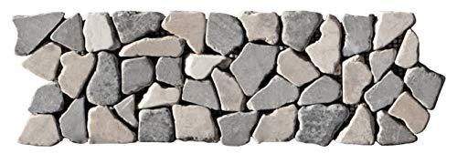 BO-339 Marmor Mosaikfliesen Bordüre Bruchstein - Fliesen Lager Verkauf Stein-mosaik Herne NRW Naturstein-Bad