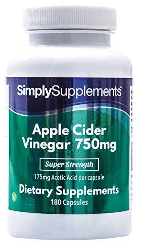 Apfelessig 750mg - Geeignet für Veganer - 180 Kapseln - SimplySupplements