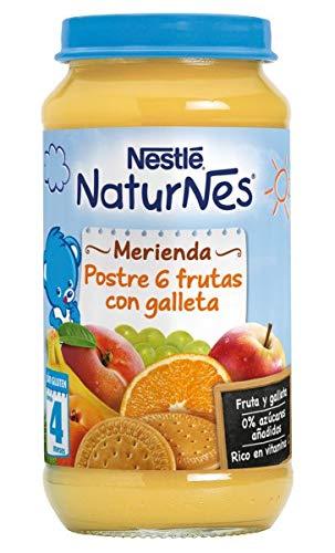 NESTLE NATURNES MERIENDA POSTRE DE 6 FRUTAS CON GALLETA 250G