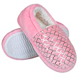 Harebell Toddler Slippers Girls Memory Foam House Slippers Indoor Outdoor Home Shoes with Anti-Slip Rubber Sole Pink 1