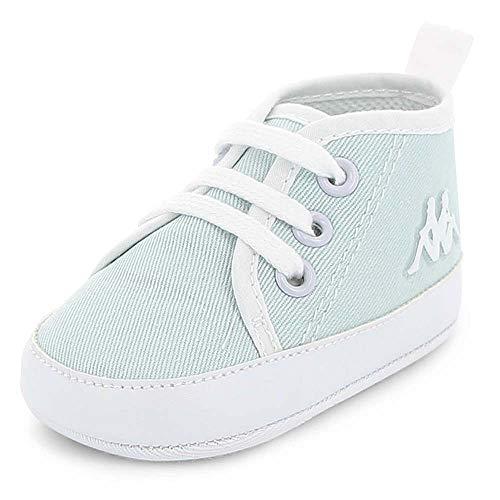 Kappa Baskets Montantes en Toile Bleue pour bébé de 6 à 12 Mois (Pointure 19/20)