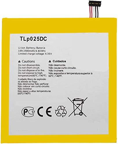 Bestome - Batería de repuesto para Alcatel One Touch Pixi 4 6.0 OT-9001A 9001X 9001D OT-8050D 8050D TLP025DC TLP025D2 (3,8 V, 2580 mAh, 9,8 Wh)