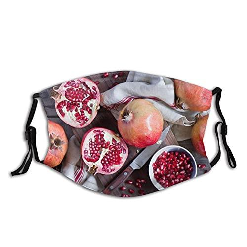 Máscara facial cómoda granadas granos fruta Junta a prueba de sol moda Bandana Headwear para la pesca