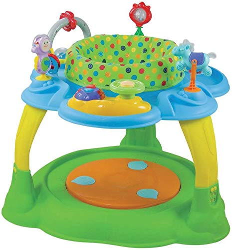 Babymix Activity Center Blue/Green Speeltafel Met Trampoline
