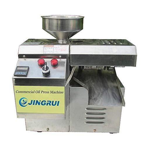 YJINGRUI Ölpresse Kommerzieller Öldruck Elektrischer Ölexpeller Automatischer intelligenter heiß oder kaltgepresster Ölextraktor für Erdnuss/Teesamen/Sesam/Sonnenblumenkerne