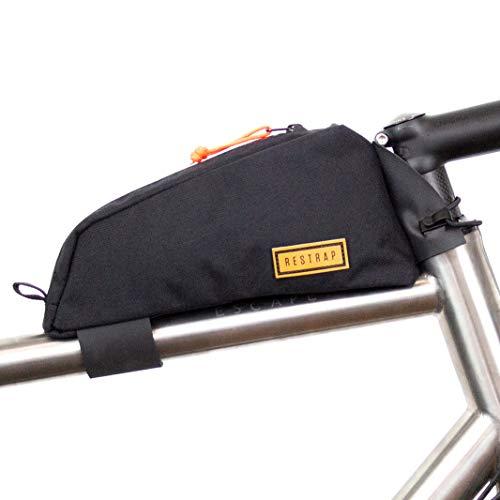 Restrap Top Tubo Bag Accessori Valigeria Bicicletta Unisex Adulti, Nero
