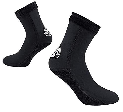 YJZQ 3 mm Neopren-Neopren-Socken Thermo Anti-Rutsch Tauchsocken Flossen Socken Wasser Schnorcheln Socken für Männer Frauen Schwimmen Segeln Kajak Surfen Wassersport Thermo Socken XL Schwarz