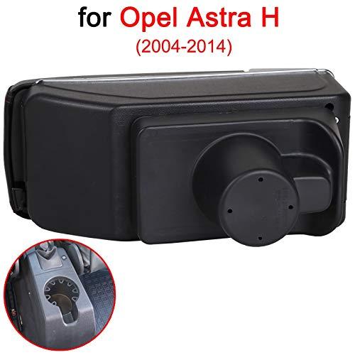 SENYAZON Accoudoir central de voiture universel pour Opel Astra H - Boîte de rangement double couche - Porte-gobelet avec 7 ports USB