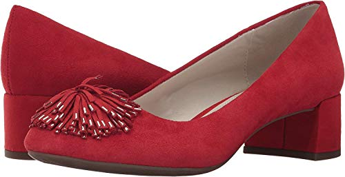 Anne Klein Women's Happy Red Suede Pumps Shoes
