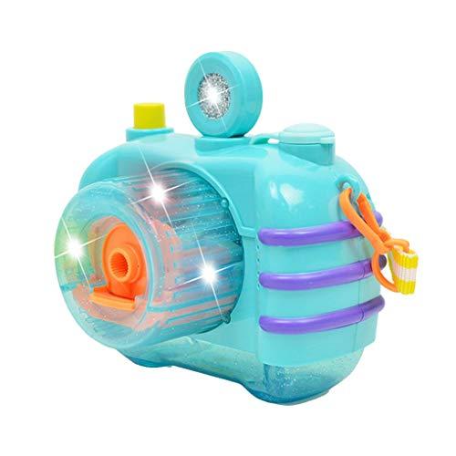 Kinderen schattige cartoon batterij-aangedreven automatische camera bellenblaasmachine elektrische zeepbellenmaker ventilator badkamer buitenspeelgoed