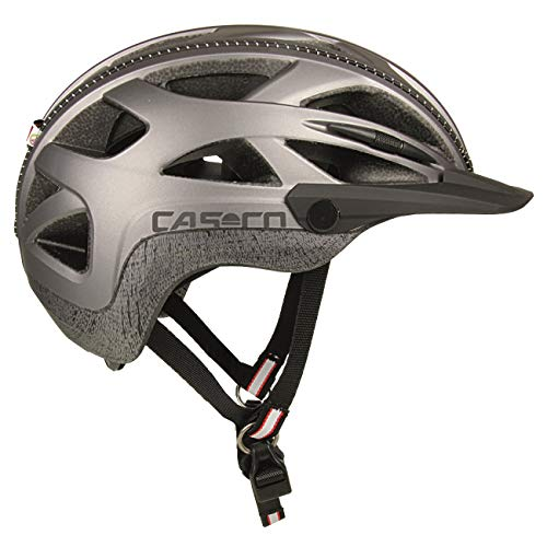 Casco Activ 2U - Fahrradhelm, Farbe:Silber, Größe:M (56-58 cm)