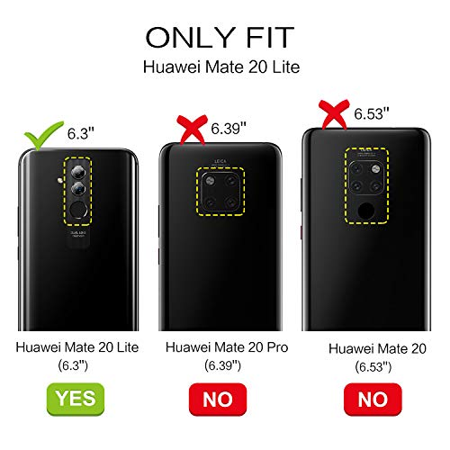 BENTOBEN Huawei Mate 20 Lite Hülle, Huawei Mate 20 Lite Handyhülle Slim Case PC Schale mit TPU Bumper leicht dünn Kratzfest Anti Rutsch Schutzhülle Glitzer Hülle für Huawei Mate 20 Lite Rose Gold - 5