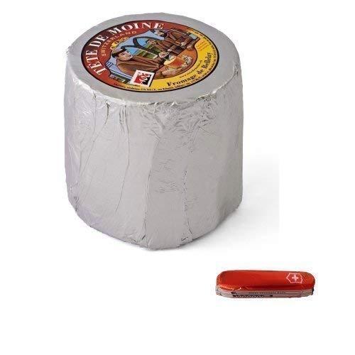 Tête de moine aoc svizzera monaco testa formaggio classico 850 g intera pagnotta girolle + cioccolato coltello tasca