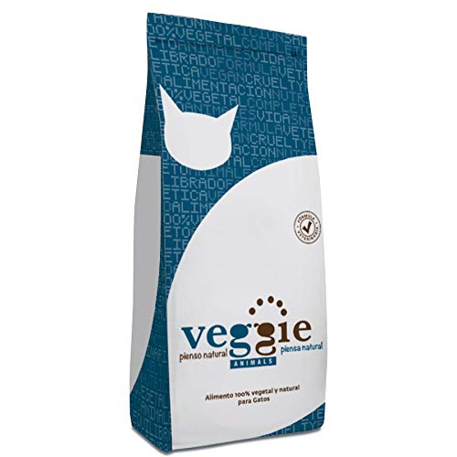 VeggieAnimals - Pienso 100% Vegetal para Gatos, 2 kg