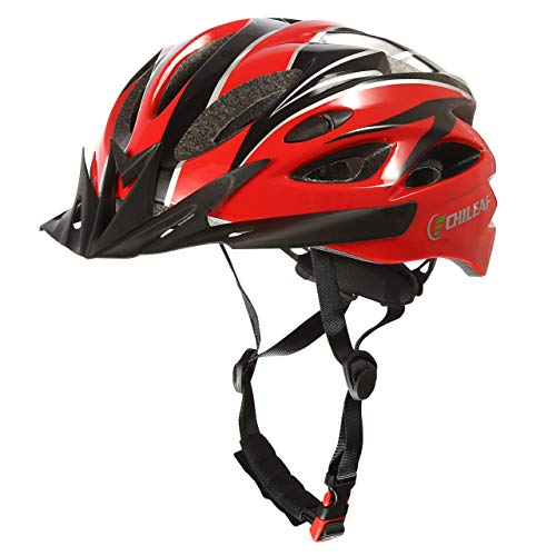 CHILEAF Bicycle Helmet for Adults 56-62 cm, CE EN1078, Adjustable Lightweight Bicycle Helmets for Men and Women, with Removable Visor and Padding