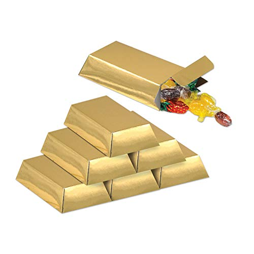 Folie gold Bar Favor Boxen (12/Pkg)