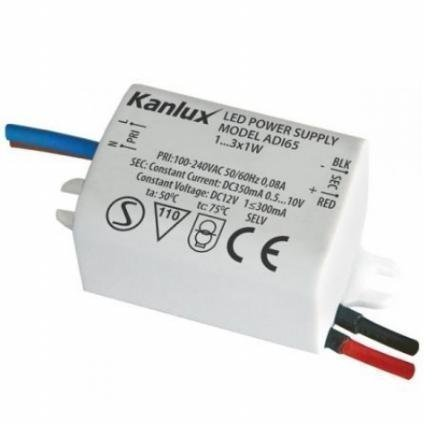 LED Trafo 350mA für 1W LEDs bis max. 3 Stück.
