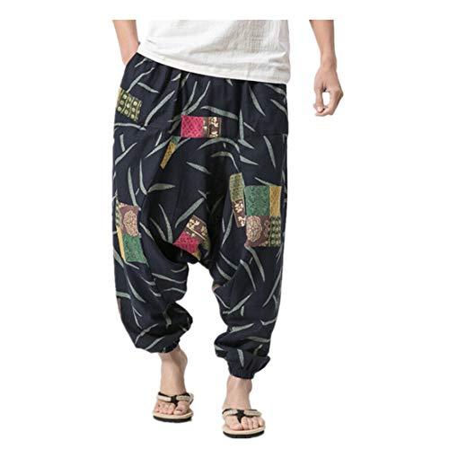Pantalones de harén unisex en muchos colores individuales - para hombre Pantalones holgados Bloomers de playa dance casuales de gran tamaño Aladdin con estampado retro Pantalones de hombre